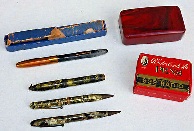 Vintage writing instruments WHOLE BOX of NIBS pens Schaefer Fountain Odd OLD  FK