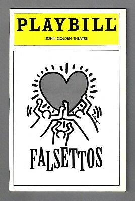 "Mandy Patinkin ""FALSETTOS"" Chip Zien / William Finn / Keith Haring 1993 Playbill"