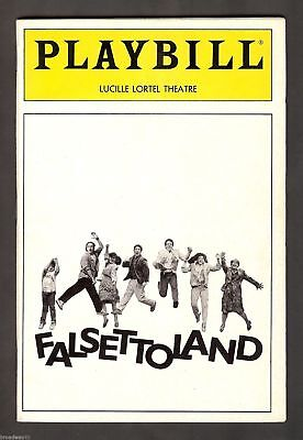 "Faith Prince ""FALSETTOLAND"" Stephen Bogardus / William Finn 1991 Playbill"