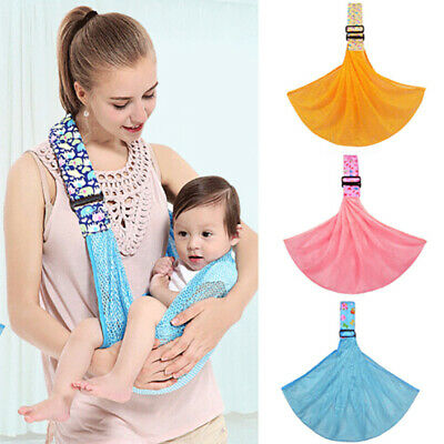 Newborn Baby Sling Carrier Ring Wrap Breathable Soft Nursing Pouch Front  IA gt