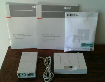 HP J2382B JETDIRECT EX Print Server with Power Supply, Manuals, and Software !!!