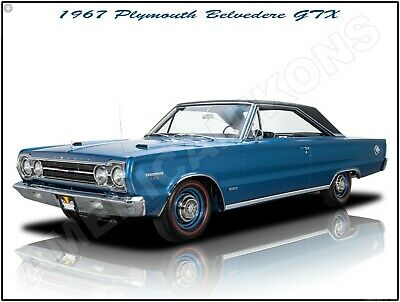 1965 Plymouth Belvedere Hot Rod Metal Sign Fully Restored