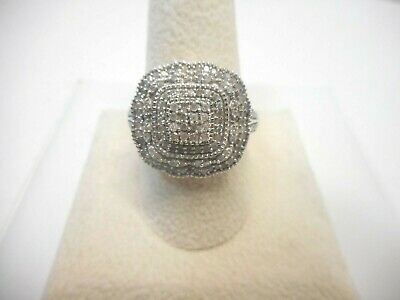Diamond Ring in Platinum Over Sterling Silver (Size 10.0) 0.75 ctw