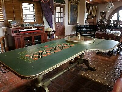 Vintage Antique Roulette wheel and Table from Liberace Estate Auction