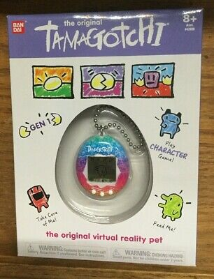 The Original Tamagotchi Virtual Reality Pet - Rainbow  2018 Gen 1 - Bandai - New