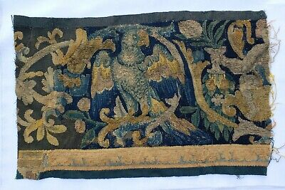 An 18th Century Tapestry Fragment with Eagle