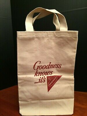 "Nabisco Canvas Bag - ""Goodness Know...it's Nabisco"" - Vintage 1980's - RARE!"