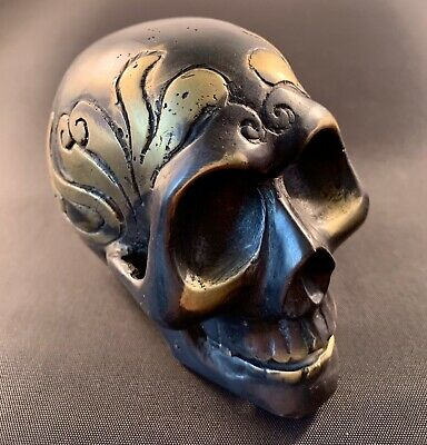 Solid Metal Ornamental Skull