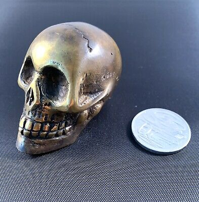 Small Solid Metal Skull