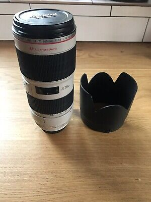 Canon EF 70-200mm F2.8 L IS  USM II Zoom Lens With Both Caps, Hood, & Case