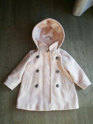 Girls Age 12 - 18 Months Gorgeous Pink Warm Coat From Next