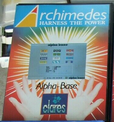 Alpha-Base software for the Acorn Archimedes by Clares