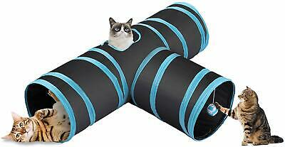 CO-Z Collapsible Cat Tunnel Tube Kitty Tunnel Bored Cat Pet Toys Peek Hole Toy