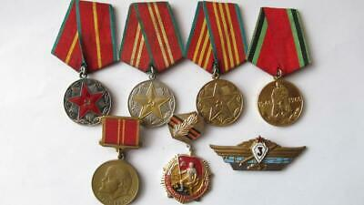 Lot USSR soviet russian medal medals order badge pin WWII     c767