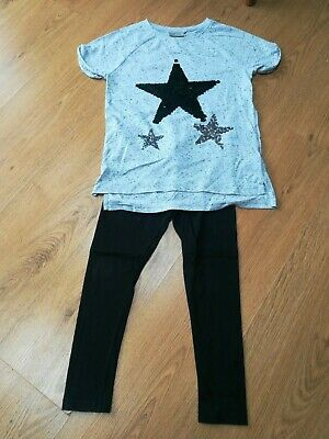 NEXT GIRLS AGE 8 TUNIC TOP & LEGGINGS Star design.