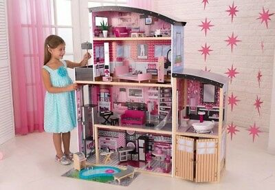 Kidkraft Sparkle Mansion Dollhouse Large Girls Wooden Doll House