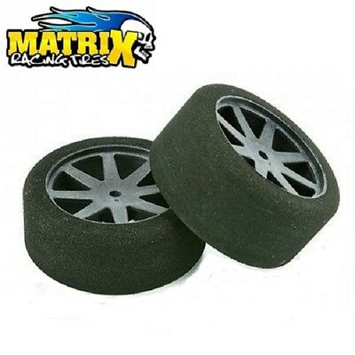 Matrix Tire 10P37Kc Kyosho Coppia Gomme Spugna Rear 37Sh 1/10 Carbon