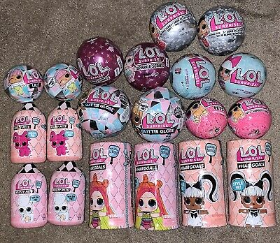 Lol Surprise Hair Goals Fuzzy Pets Glitter Sparkle Bling Lot Of 20 All New
