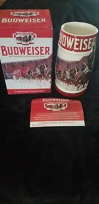 2018 Budweiser Holiday Stein 39th Anniversary New in box