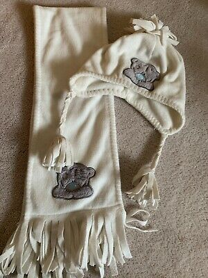 Next Tatty Teddy Me To You Cream Hat & Scarf Set Age 3-6 Years