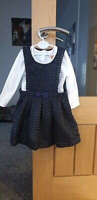 beautiful Ted Baker Girls Pinafore Dress And Long Sleeved Top Age 1218 Months