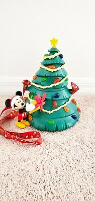 Disney Parks Mickey Light Up Tree Popcorn Bucket Christmas Holiday LE  2019