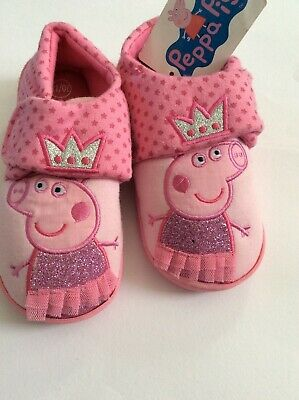 New girls Peppa Pig slippers, size 10-11