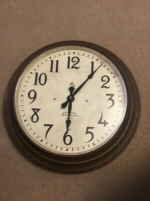 Vintage Factory Wall Pulse Clock International Time Recording Co London
