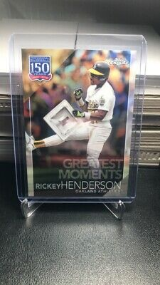 2019 Topps Chrome Update RICKEY HENDERSON Greatest Moments Insert #150C-4 A's