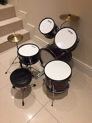 Mirage Drum Kit Starter Youth Nearly New Drums Set Drumming Junior Christmas