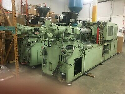 Two really nice identical 210 ton Nissei injection molding machine, year 1987