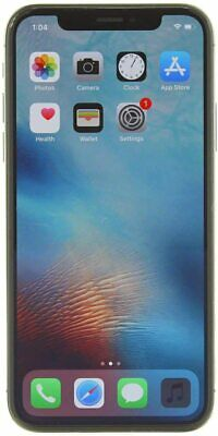 Apple iPhone X 64GB Silver Fully Unlocked CDMA + GSM 4G LTE IOS Smartphone