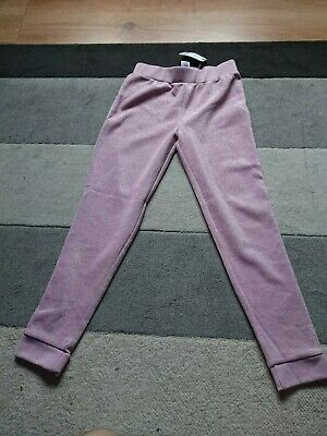 Next Girls Pink Sparkles Trousers Age 9 Brand New