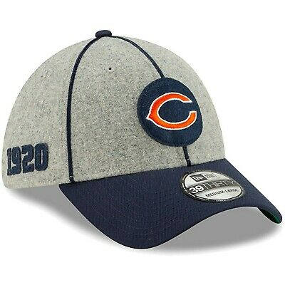 Chicago Bears NFL 2019 On-Field Sideline Home 39THIRTY Hat/Cap S/M/Gray/Navy/NWT