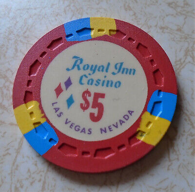 Obsolete, Early Royal Inn, Las Vegas $5.00 Casino Chip
