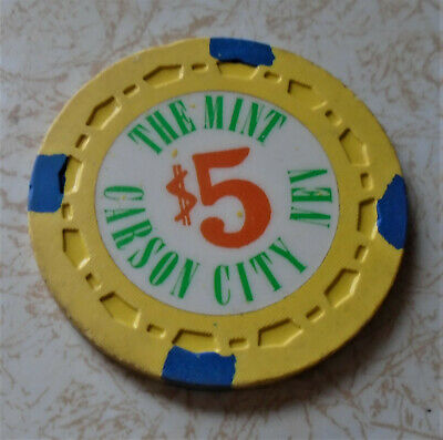 Obsolete, Early The Mint, Carson City, NV $5.00 Casino Chip