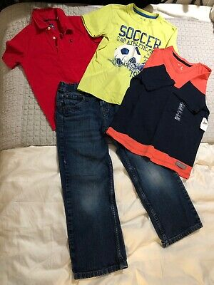 Boys Jeans And T Shirts Top 4 Item Bundle. Age 8. Next Joules Gap. One BNWT