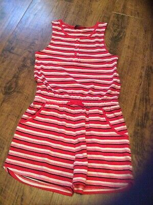 Girls coloured stripped playsuit age 8-9years George label