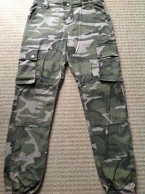 New Look Girls 915 Khaki Camo Utility Trousers - Size 13 yrs