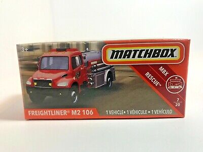 2019 Matchbox Power Grabs  Freightliner  M2 106 RED / MBX COUNTY / new in box