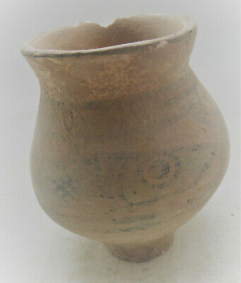 Circa 2200-1800Bce Ancient Indus Valley Harappan Terracotta Pot With Fish Motifs