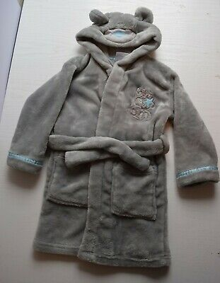 BHS Me To You Teddy Bear Dressing Gown, Age 18-24 months 1.5-2 years. Grey, Soft