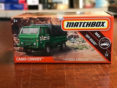 Matchbox 2019 Power Grabs Camo Convoy 1/20 MBX OFF ROAD 80/100 **New In Box**