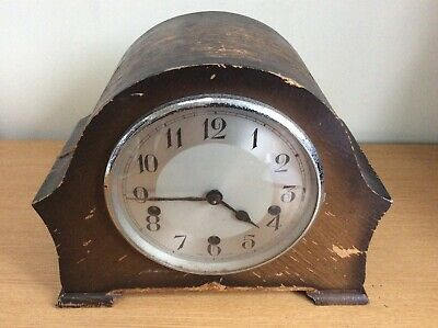 Antique Wooden Mantle Clock Westminster Chimes Made By The Enfield Clock Company
