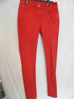 """NEXT Ladies Girls Soft Touch Stretch Skinny Jeans - Red - 12 long - 30"""" leg"""