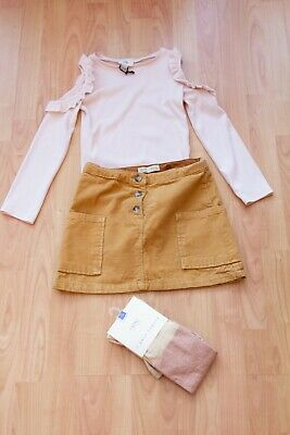 BNWT Girls Bundle age 9-10 years. ZARA Skirt & River Island Top & Tights NEXT