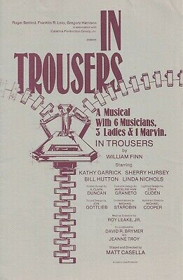 "William Finn ""IN TROUSERS"" Bill Hutton / West Coast Premiere 1984 Playbill"