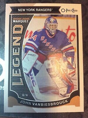 UD O-Pee-Chee 2015-2016 MARQUEE LEGENDS JOHN VANBIESBROUCK HOCKEY CARD #556