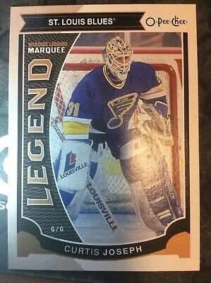 UD O-Pee-Chee 2015-2016 MARQUEE LEGENDS CURTIS JOSEPH HOCKEY CARD #571