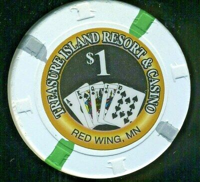 $1.00 Obsolete * Treasure Island Hotel Casino * Red Wing, Minnesota.